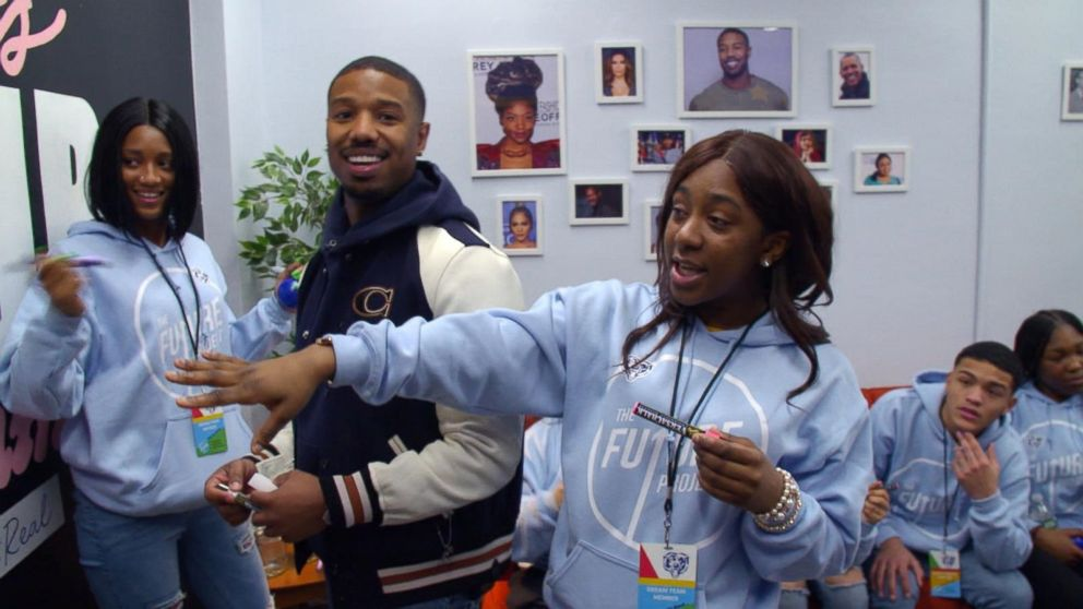 PHOTO: Michael B. Jordan surprised high school students in his hometown of Newark, N.J.