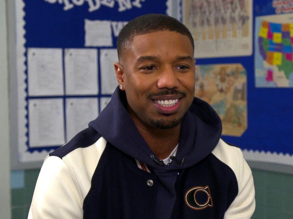 PHOTO: Michael B. Jordan surprised high school students in his hometown of Newark, N.J.