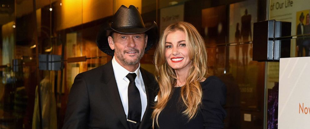 PHOTO: Tim McGraw and Faith Hill attend the Country Music Hall of Fame and Museums debut of the Tim McGraw and Faith Hill Exhibition on November 15, 2017, in Nashville, Tenn.