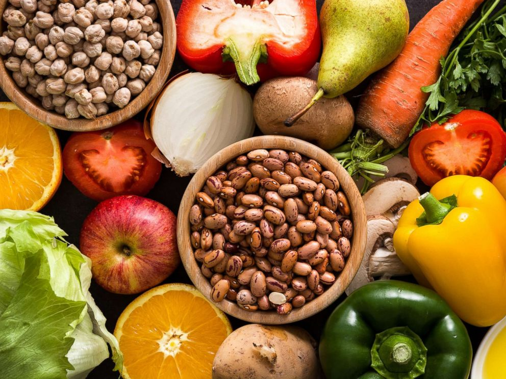 PHOTO: Fruits, vegetables, legumes, and whole grains.