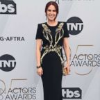 Host Megan Mullally attends the 25th Annual Screen ActorsGuild Awards at The Shrine Auditorium, Jan. 27, 2019, in Los Angeles.