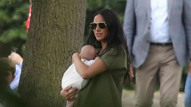 Duchesses Kate and Meghan take kids to watch Princes William and Harry play polo