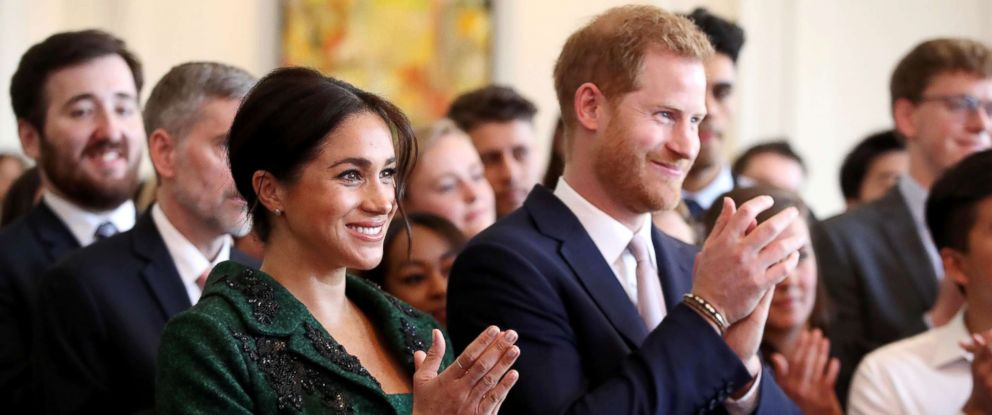 PHOTO: Meghan, Duchess of Sussex and Prince Harry, Duke of Sussex watch a musical performance as they attend a Commonwealth Day Youth Event on March 11, 2019, in London.