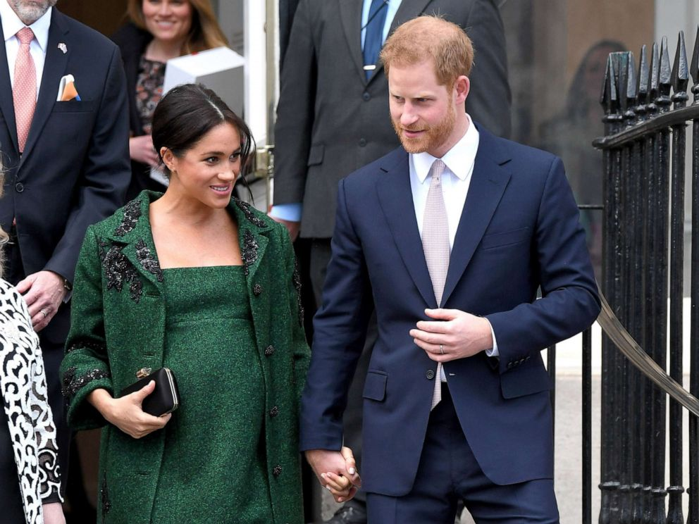 PHOTO: Prince Harry and Meghan, Duchess Of Sussex attend a Commonwealth Day Youth Event at Canada House on March 11, 2019 in London.