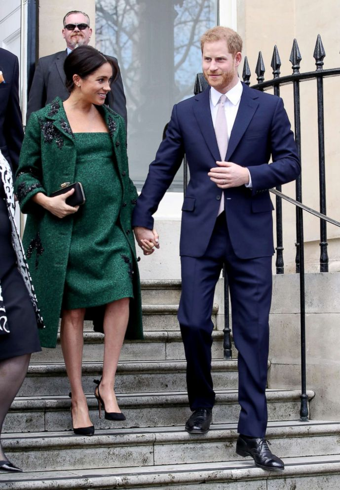 Meghan, Duchess of Sussex and Prince Harry, Duke of Sussex departs a Commonwealth Day Youth Event on March 11, 2019, in London.