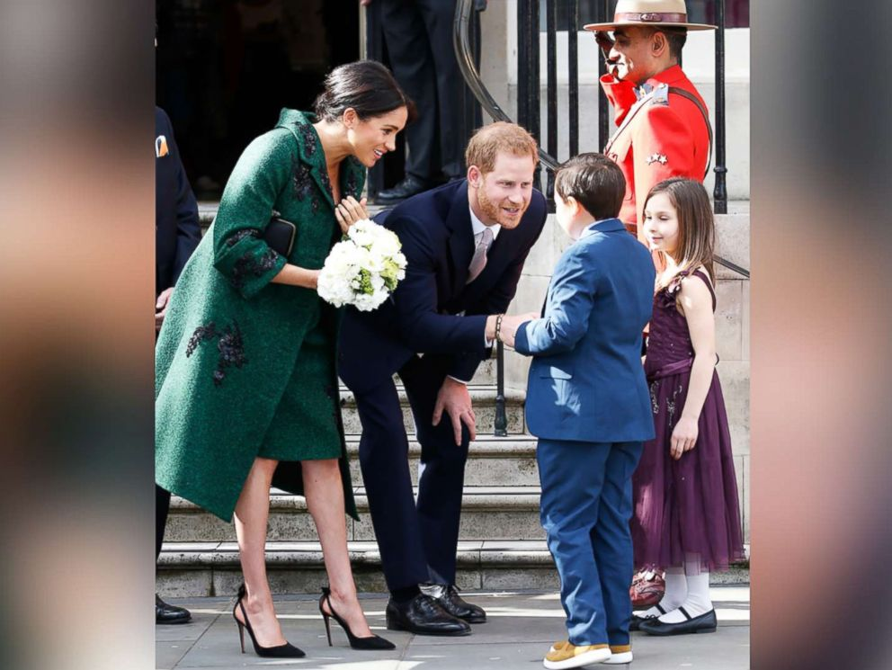 PHOTO: Prince Harry and Meghan, Duke and Duchess of Sussex, leave Canada House after having attended an event to mark Commonwealth Day, March 11, 2019.