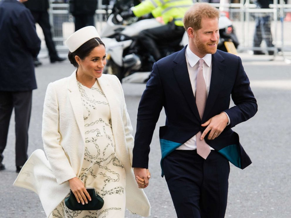 PHOTO: Meghan, Duchess of Sussex and Prince Harry, Duke of Sussex attend the Commonwealth Day service at Westminster Abbey on March 11, 2019 in London.