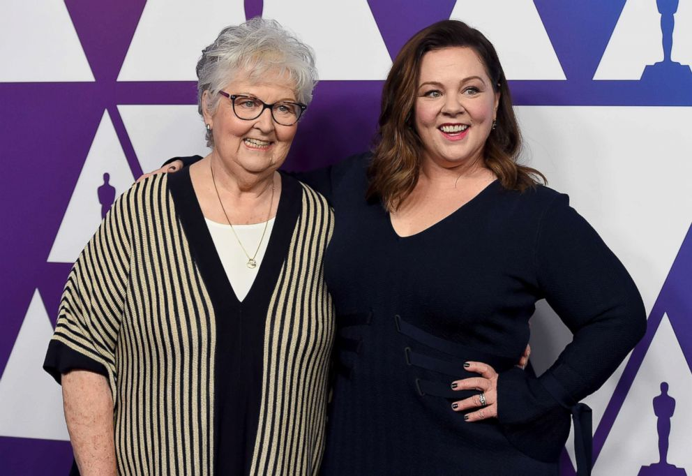PHOTO: Sandy McCarthy, left, and Melissa McCarthy arrive at the 91st Academy Awards Nominees Luncheon, Feb. 4, 2019, at The Beverly Hilton Hotel in Beverly Hills, Calif.