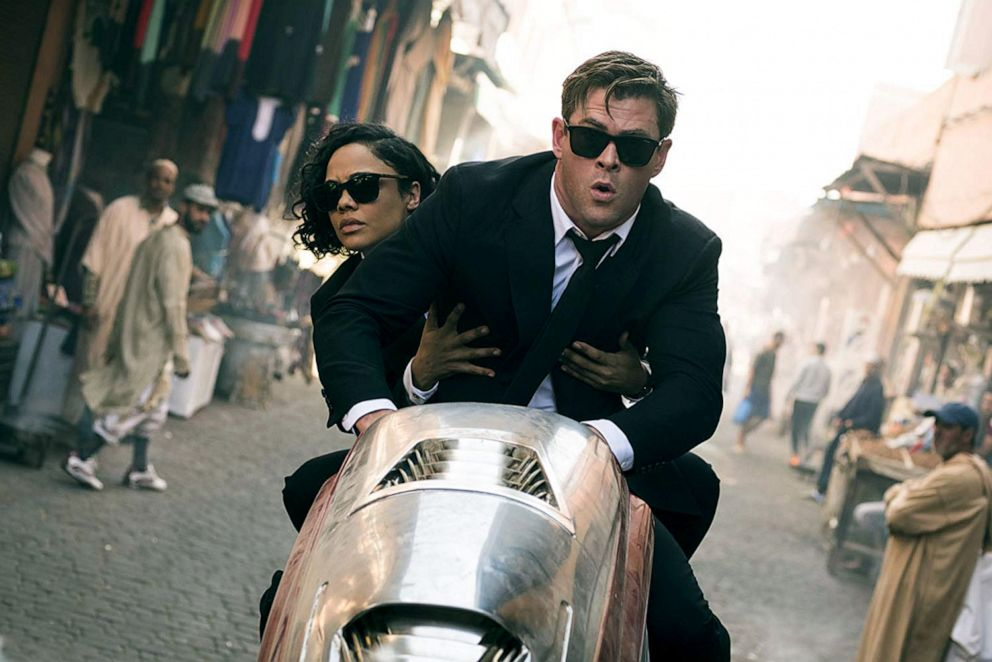PHOTO: Chris Hemsworth, as Agnet H, and Tessa Thompson, as Agent M, in a scene from Men in Black: International.