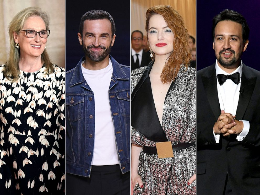 PHOTO: Meryl Streep, Nicolas Ghesquiere, Emma Stone and Lin-Manuel Miranda are the Met Gala 2020 co-chairs.
