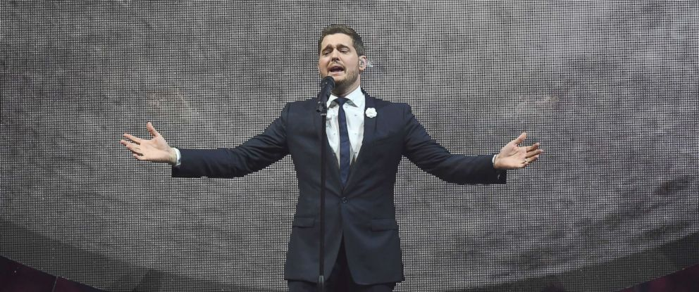 PHOTO: Michael Buble performs at the BB&T Center, Feb. 15, 2019, in Sunrise, Fla.
