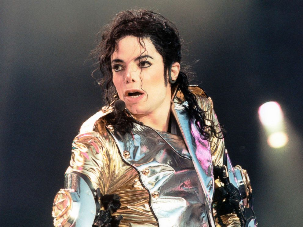 PHOTO: In this file photo, Michael Jackson performs on stage at the Amsterdam Arena, June 1, 1997.