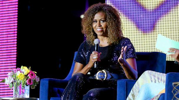 Michelle Obama rocks blonde ombre natural curls at 2019 Essence Music Festival
