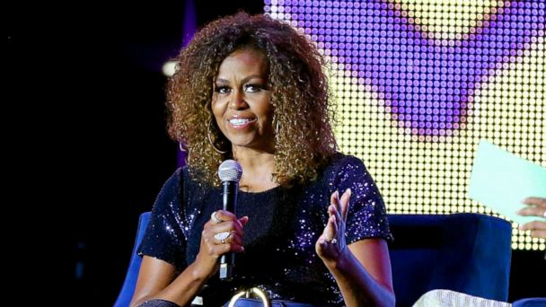 Michelle Obama rocks blonde ombre natural curls at 2019 Essence Music Festival