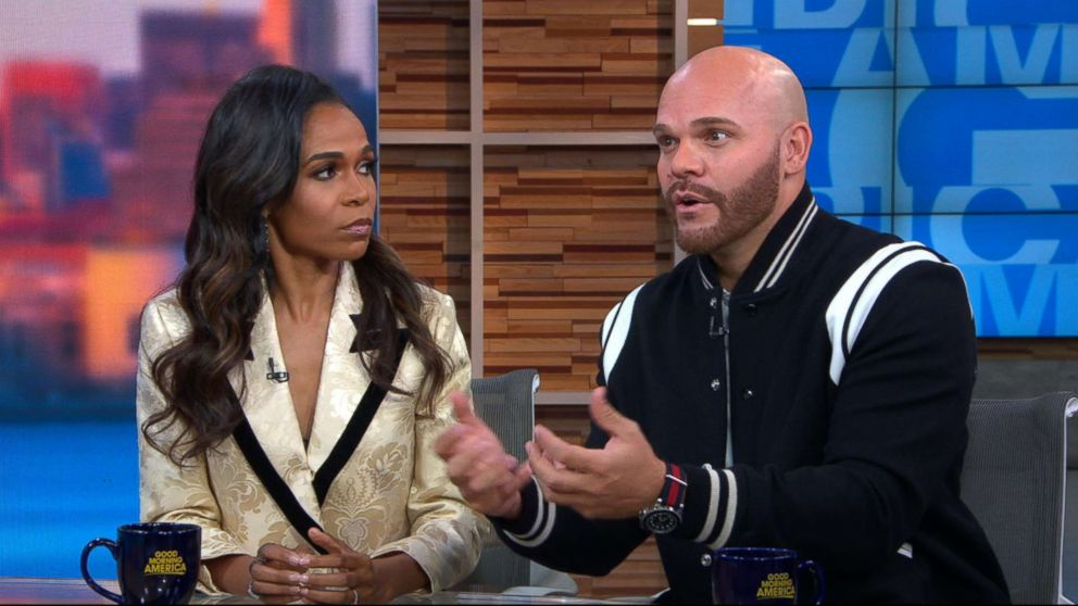PHOTO: Michelle Williams and her fiance appear on Good Morning America, Nov. 2, 2018.