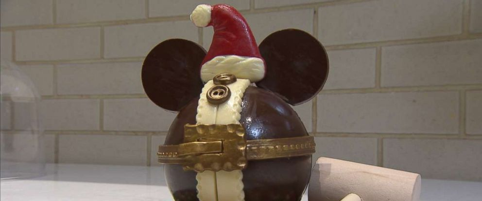 PHOTO: The Ganachery at Disney Springs just unveiled its Chocolate Mickey Santa pinata to celebrate the holiday season.