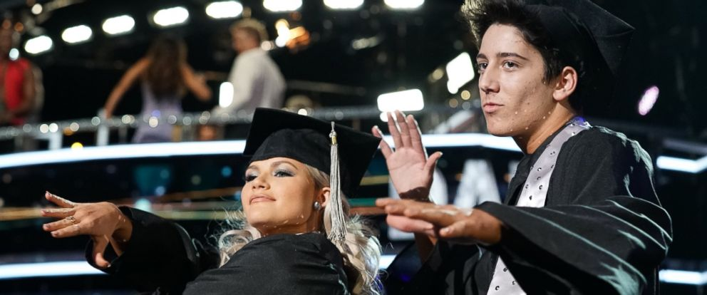 "PHOTO: Milo Manheim, a Disney Channel star, with his partner Witney Carson, tied for the second-highest score on the Monday, Oct. 8, 2018, episode of ""Dancing with the Stars."""