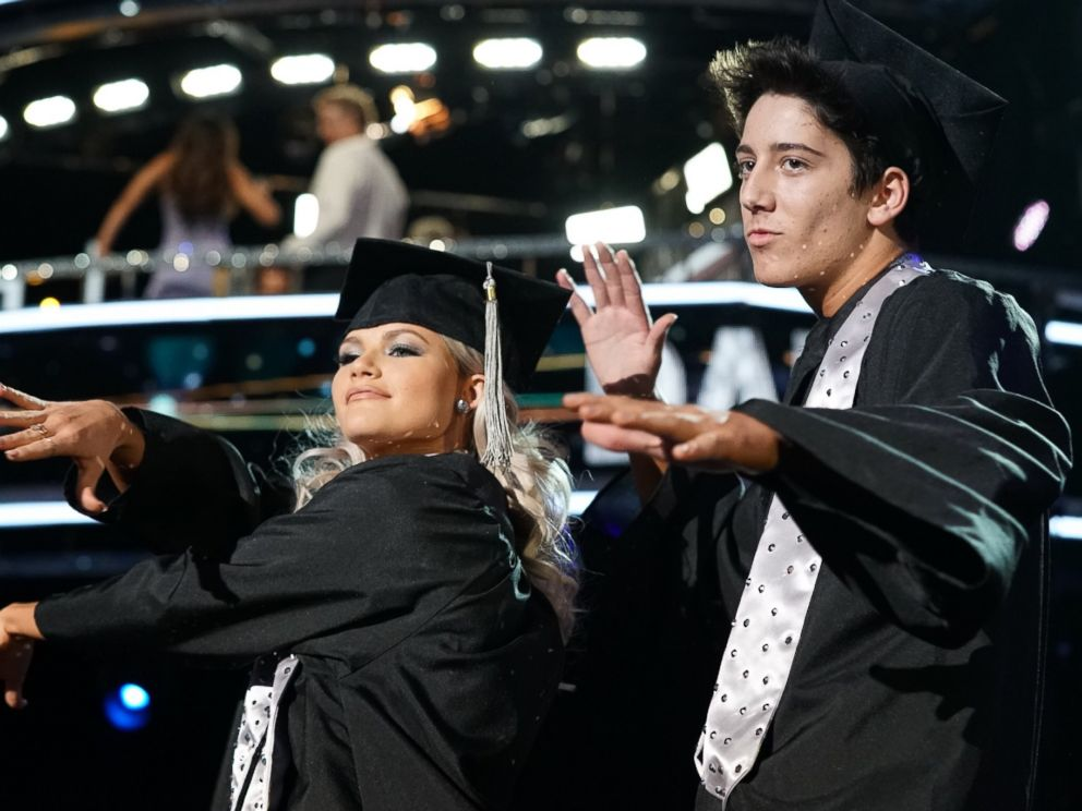 PHOTO: Milo Manheim, a Disney Channel star, with his partner Witney Carson, tied for the second-highest score on the Monday, Oct. 8, 2018, episode of Dancing with the Stars.