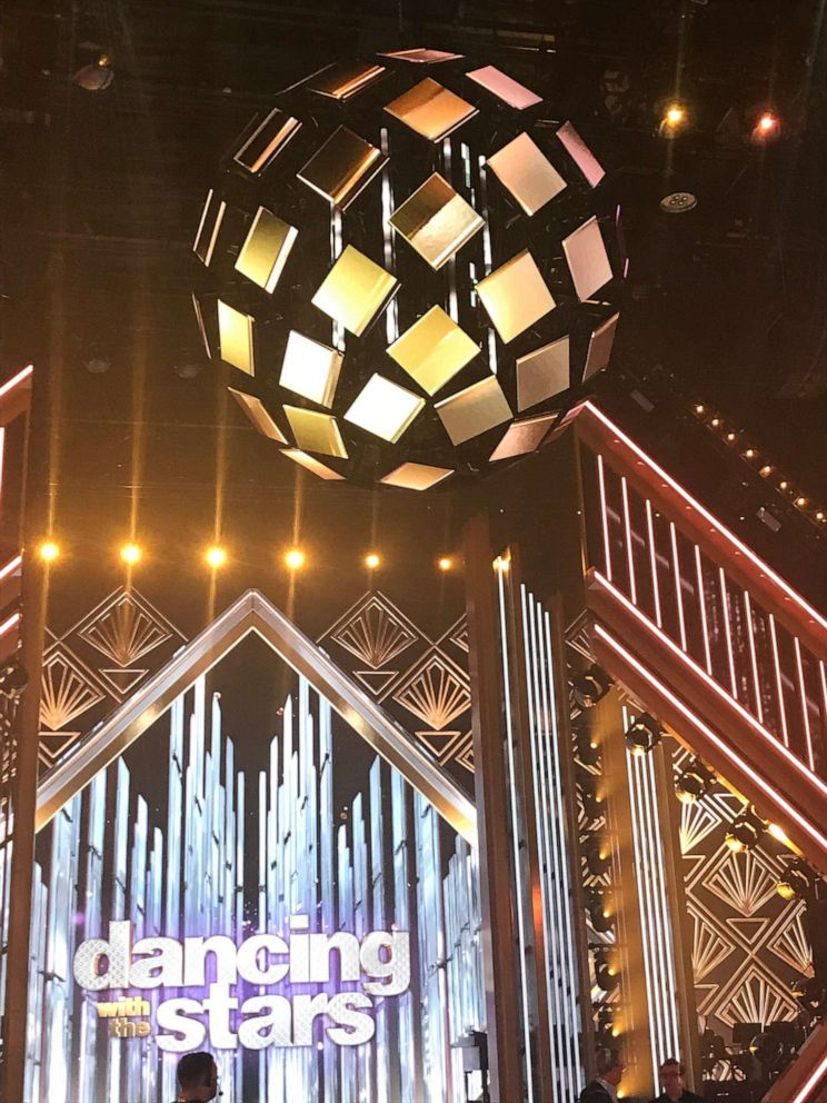 PHOTO: The new Dancing With the Stars mirrorball hangs above the iconic dance floor.