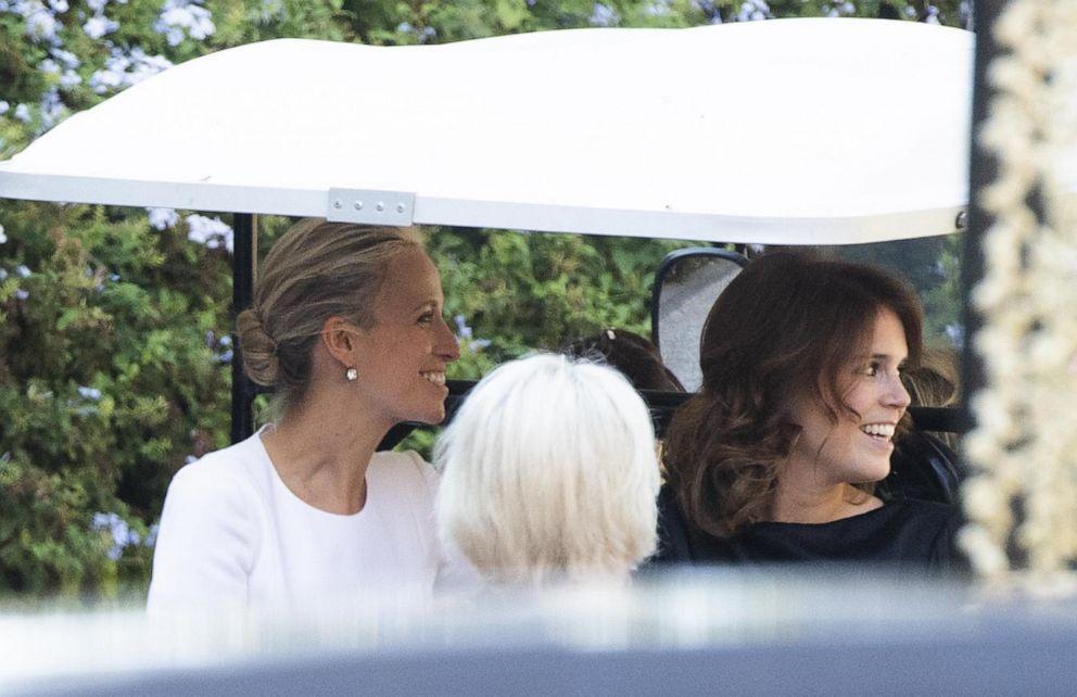 PHOTO: Misha Nonoo and Beatrix of York enter Villa Aurelia in Rome, Sept. 20, 2019.
