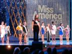 PHOTO: Allison Farris, Miss District of Columbia, introduces herself at the beginning of the first night of preliminary competition in the Miss America competition in Atlantic City, N.J., Sept. 5, 2018.