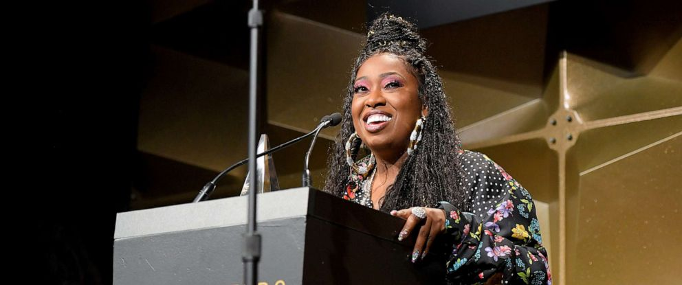 PHOTO:Inductee Missy Elliott speaks onstage during the Songwriters Hall Of Fame 50th Annual Induction And Awards Dinner at The New York Marriott Marquis, June 13, 2019, in N.Y.