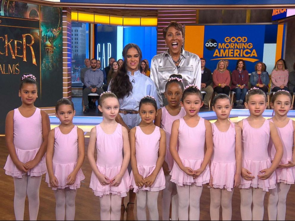 PHOTO: Misty Copeland appeared on Good Morning America Monday to discuss the new film alongside young students of the American Ballet Theater School.