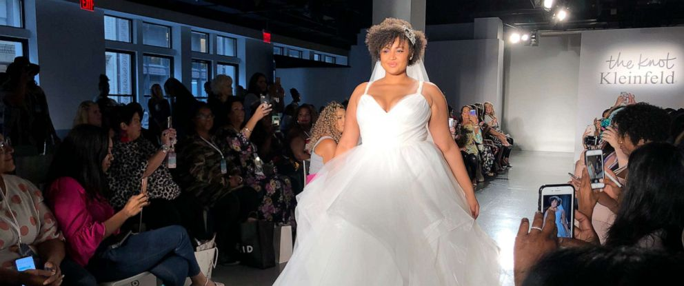 PHOTO: Model at The Knot x Kleinfeld Fashion Show during New York Fashion Week, 2019.