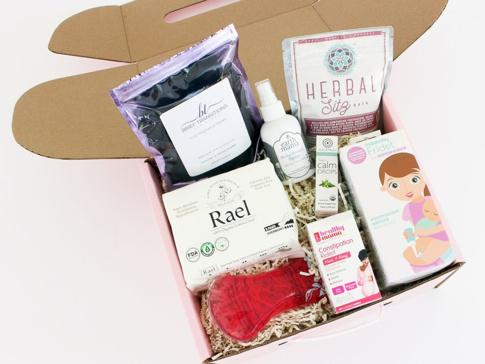 PHOTO: Mombox offers postpartum care kits for new moms.