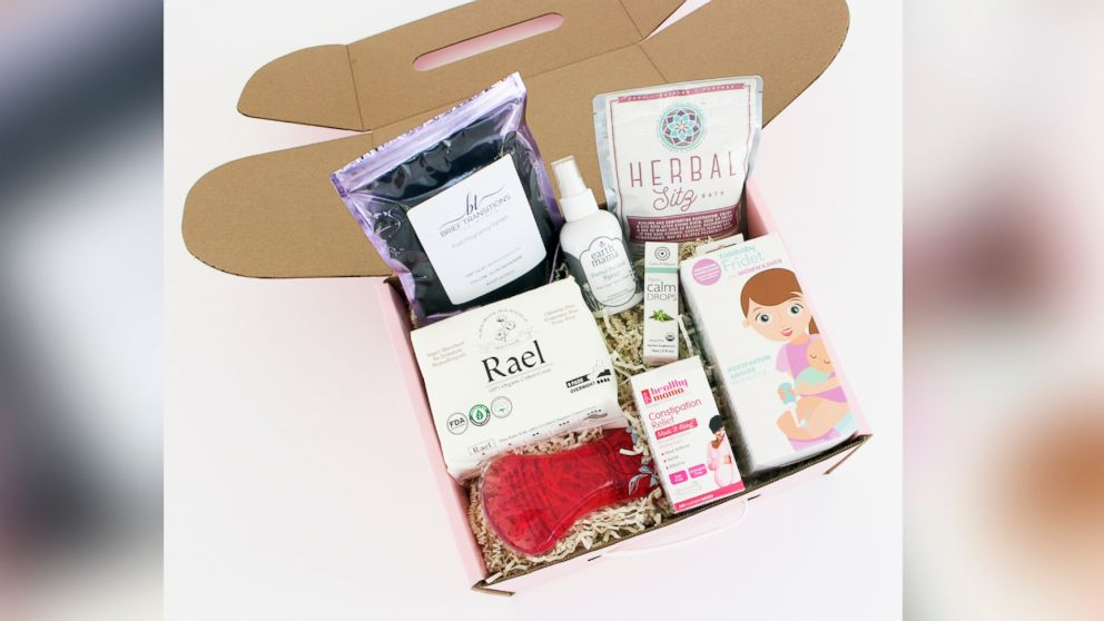 Mombox offers postpartum care kits for new moms.