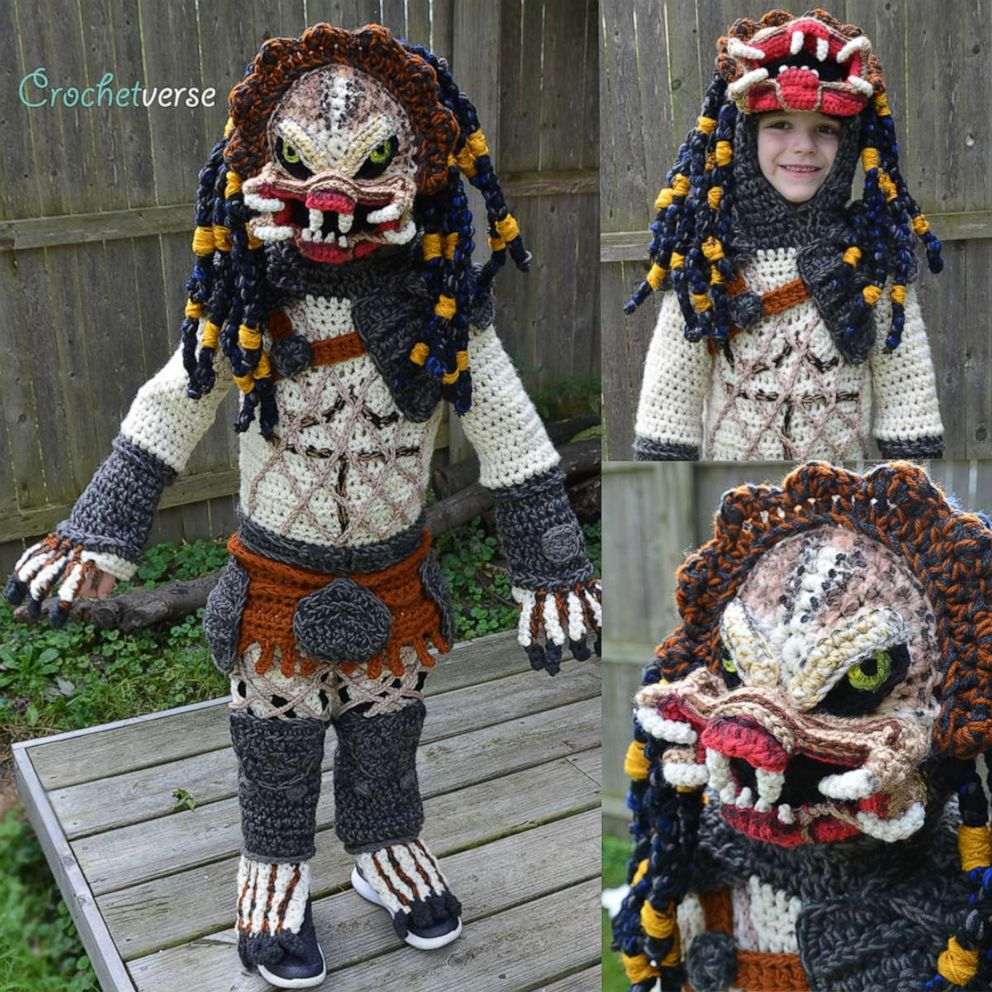 PHOTO: Stephanie Pokorny of Mentor, Ohio, has crocheted some impressive creations for her sons, Jack, 4 and Jacob, 7.
