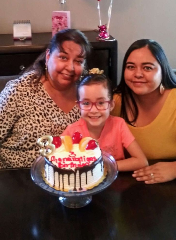 PHOTO: Lourdes Pizarro (aka Nana) was born Oct. 2, 1959. On Oct. 2, 1989, Pizarro gave birth to Jessica Chavez. On Oct. 2, 2013, Pizarros other daughter, Sarah, welcomed Sabella Contreras. Sabella turned 6 this year.