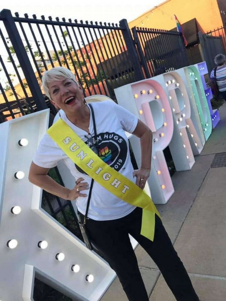 PHOTO: Sara Cunnningham of Oklahoma City, Oklahoma, launched Free Mom Hugs, a group of affirming parents and allies who love the LGBTQ+ community unconditionally, in 2016.