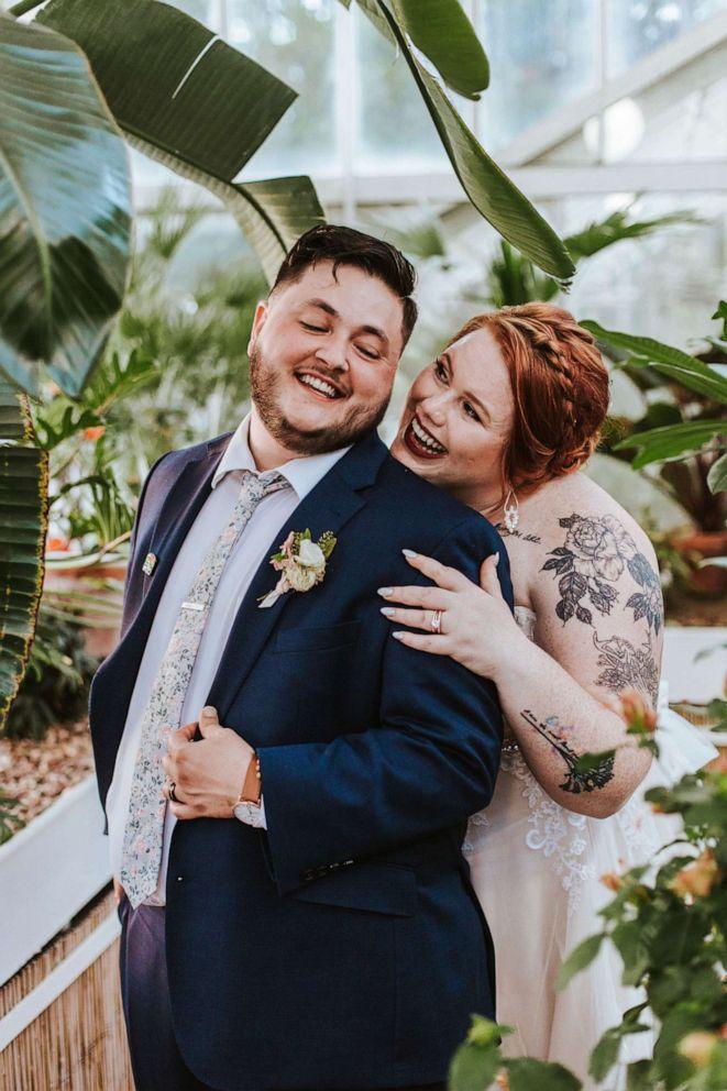 PHOTO: Haley and Sam Hedrick of Tulsa, Oklahoma, married on June 2, 2019.