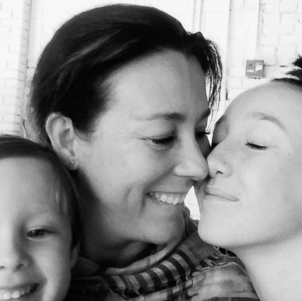 PHOTO: Kate Lacroix, a mom of two from Colorado, pictured with her children Mila, 4 and Harper, 14, in an undated photo.