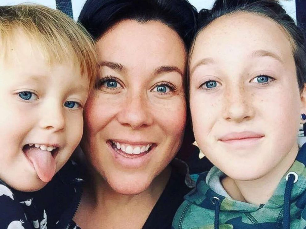 PHOTO: Kate Lacroix, a mom of two from Colorado, is pictured with her children Mila, 4 and Harper, 14, in an undated photo. Kate Lacroix is raising money to cover Boulder Valley School District lunch money debt of $232,000.