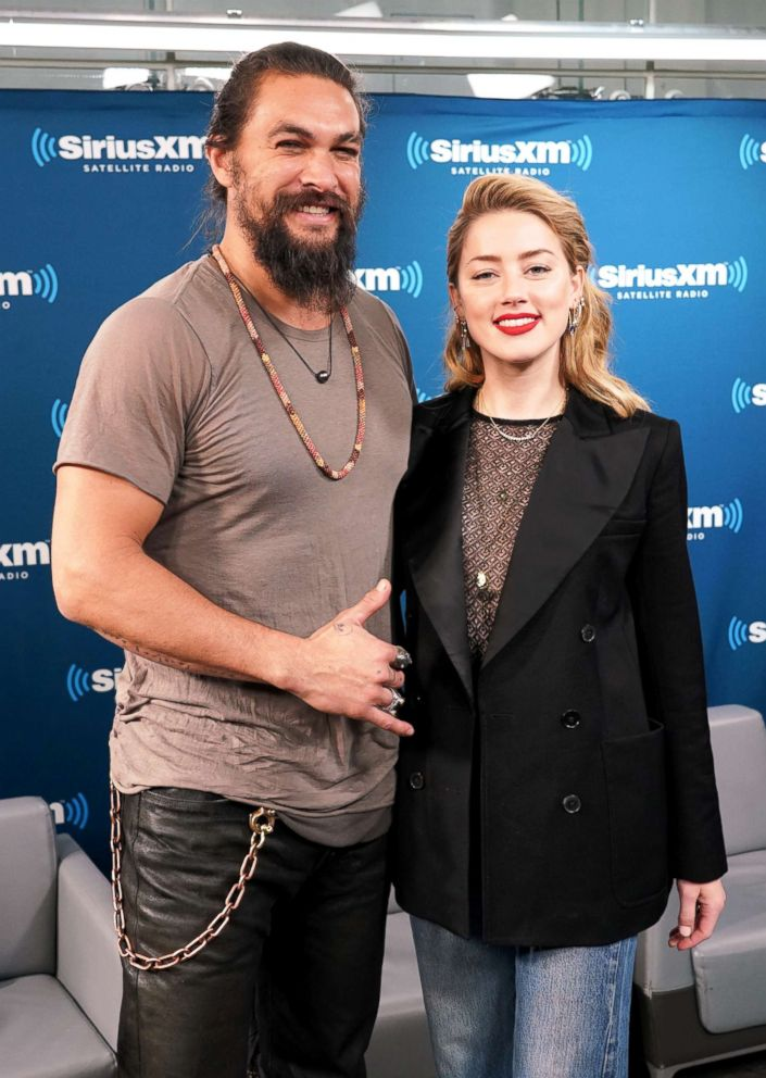 PHOTO: Jason Momoa and Amber Heard attend an event in New York City, Dec. 2018.