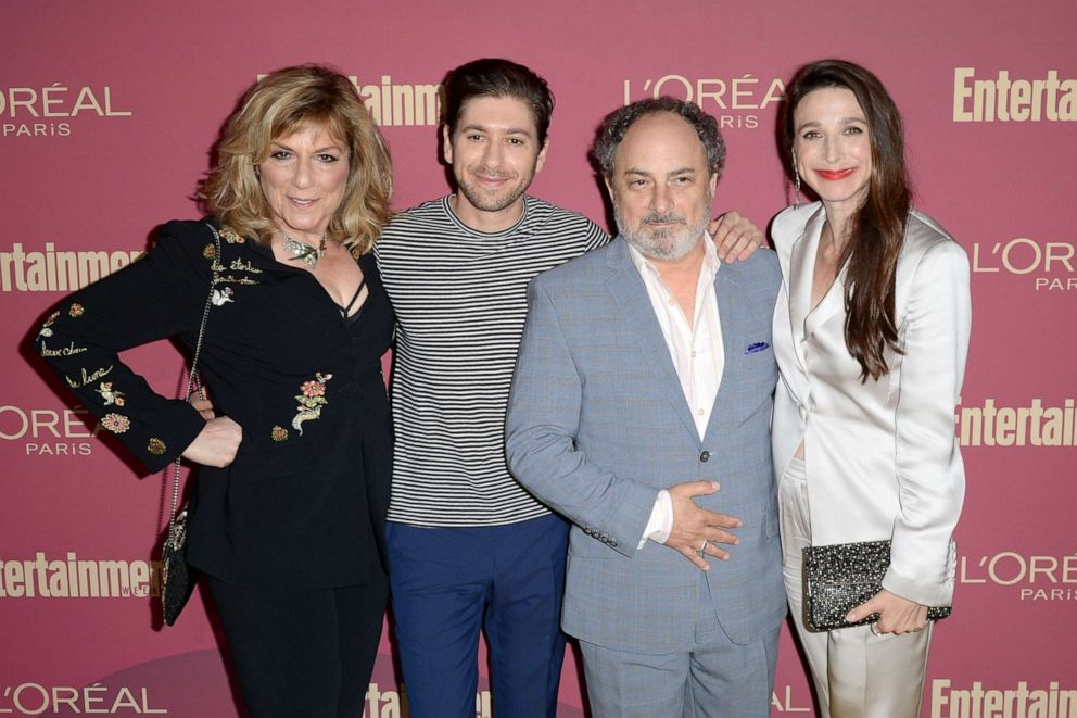 PHOTO: Caroline Aaron, Michael Zegen, Kevin Pollak, and Marin Hinkle attend the 2019 Pre-Emmy Party hosted by Entertainment Weekly and LOreal Paris at Sunset Tower Hotel in Los Angeles on Friday, September 20, 2019.