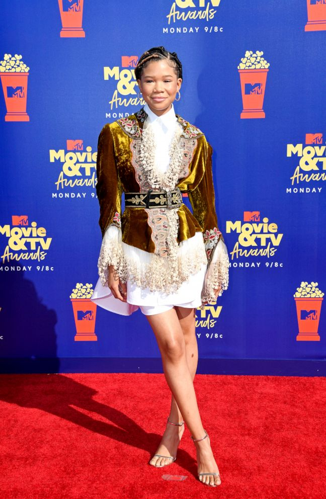 PHOTO: Storm Reid attends the 2019 MTV Movie and TV Awards at Barker Hangar on June 15, 2019, in Santa Monica, Calif.