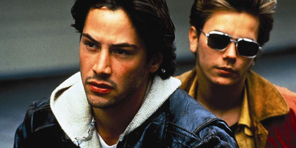 PHOTO: Keanu Reeves (left) and River Phoenix are shown in a scene from My Own Private Idaho.