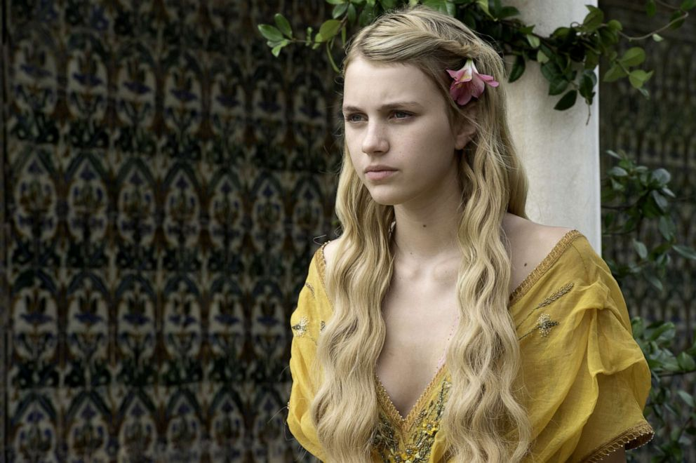 Nell Tiger Free, as Myrcella Baratheon, in a scene from 'Game of Thrones.'