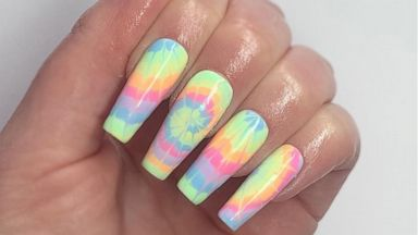 These Rainbow Tie Dye Nail Art Looks Are Perfect For Pride Month And Beyond Abc News