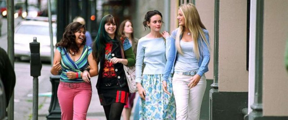 """PHOTO: From left, America Ferrera, Amber Tamblyn, Alexis Bledel and Blake Lively in a scene from """"The Sisterhood of the Traveling Pants."""""""