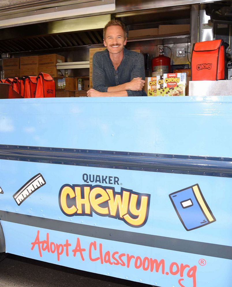 PHOTO: Neil Patrick Harris poses for a photo at the Quaker Chewy food truck in New York, Sept. 4, 2019.