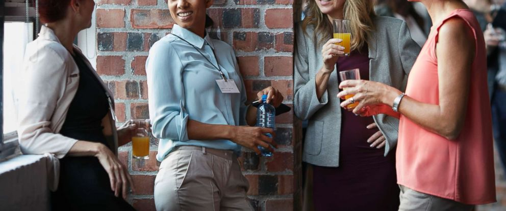 PHOTO: A group of women socialize in this stock photo.