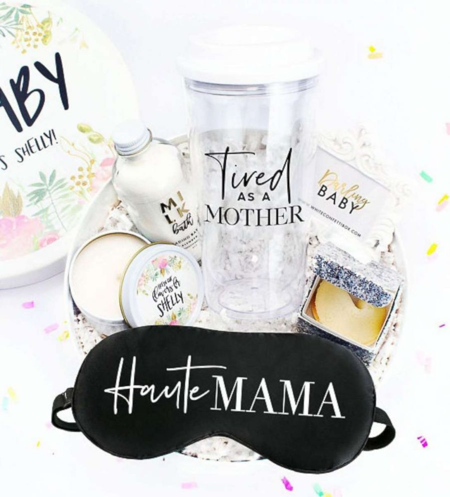 PHOTO: The new mom survival kit is available on the Etsy shop, White Confetti Box.