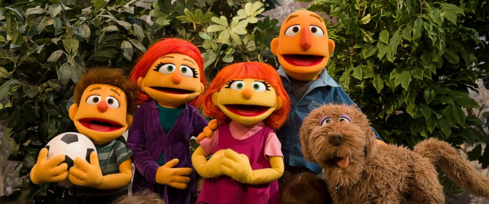 """PHOTO: Sesame Street debuted the family of Julia, a muppet with autism, on """"Good Morning America."""""""