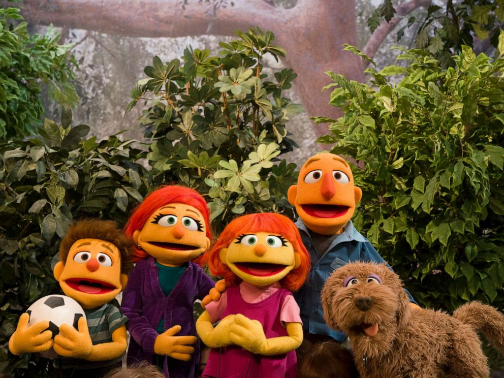 PHOTO: Sesame Street debuted the family of Julia, a muppet with autism, on Good Morning America.