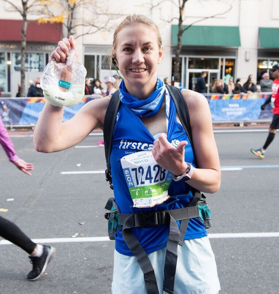 PHOTO: Molly Waitz, 27, of Cutchogue, N.Y., breast pumped while running the 2019 New York City Marathon on Nov. 3, 2019.