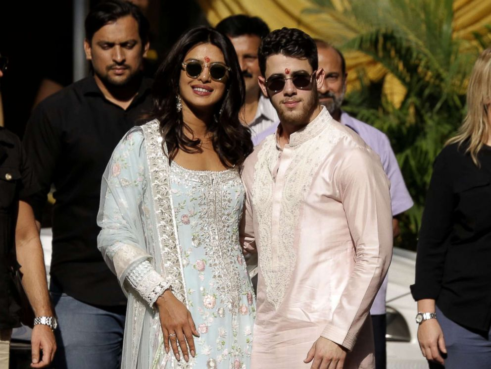 Nick Jonas step out in traditional Indian clothing ahead of their Jodphur wedding Nov. 29 2018